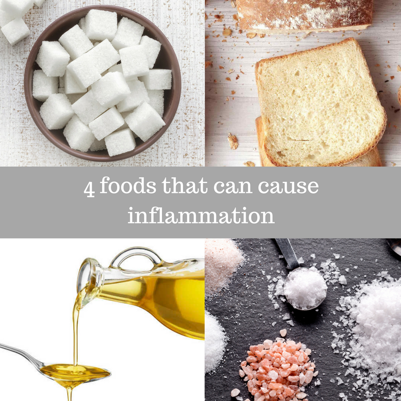 4 Foods that can cause Inflammation